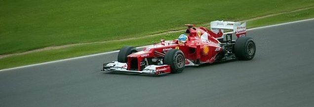 A red F1 Ferrari.