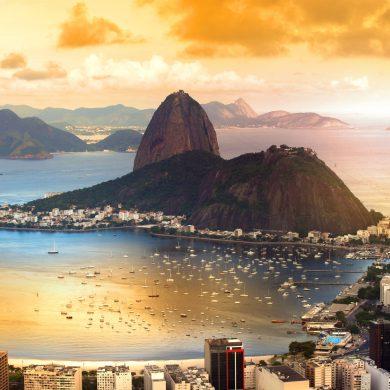 Sunset view of Rio de Janeiro.