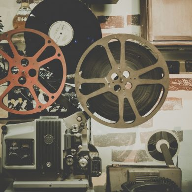 Early Brazilian cinema - an old film reel.