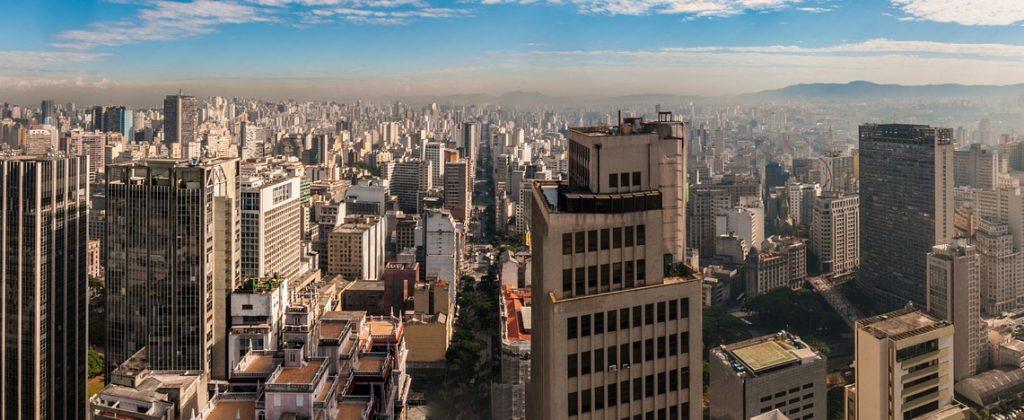 A skyline view of the buildings of São Paulo.