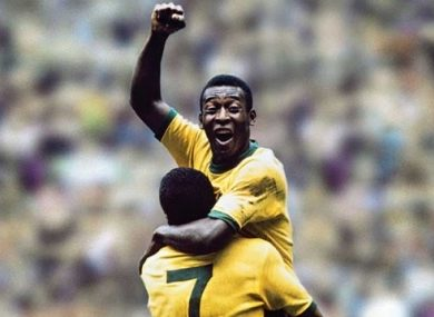 Pele, the king of Brazilian football.