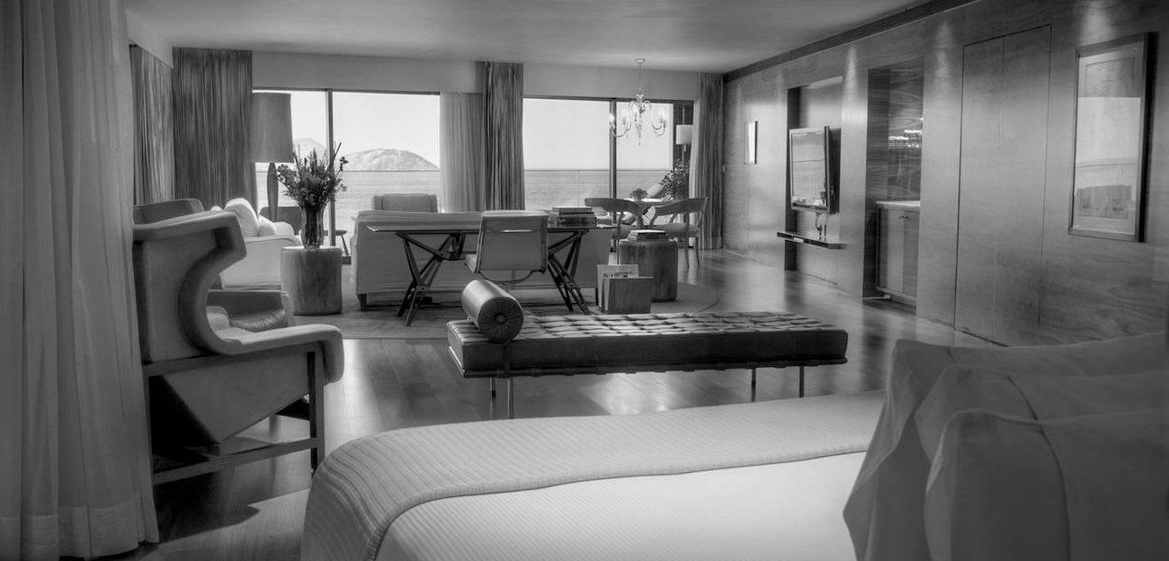 Room of the Fasano Hotel in Rio.