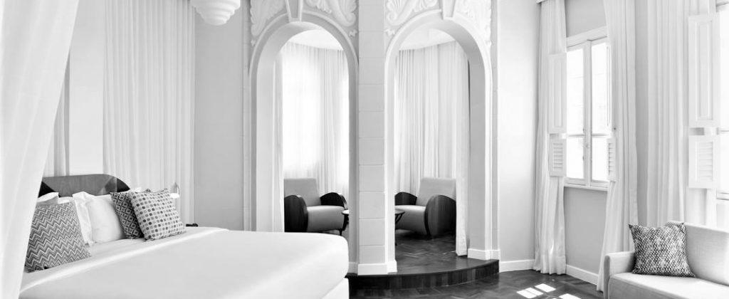 Inside Fera Palace - Black and White.
