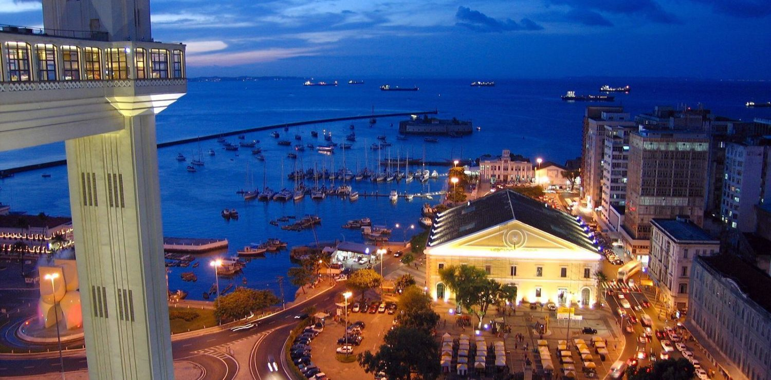 Salvador de Bahia at night.
