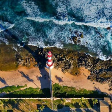 Health and Safety in Brazil - Salvador beach lighthouse.