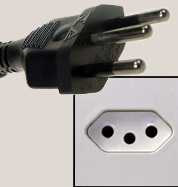 Type N plug and socket.